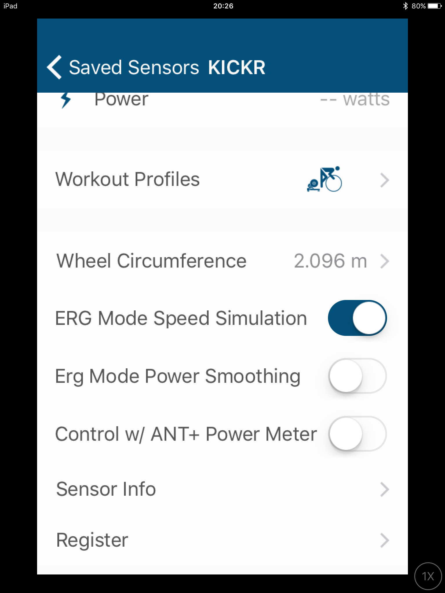 SETTINGS FOR the wahoo kickr kickr17 smart trainer review