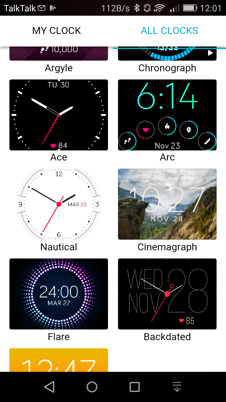 Fitbit ionic review watch faces