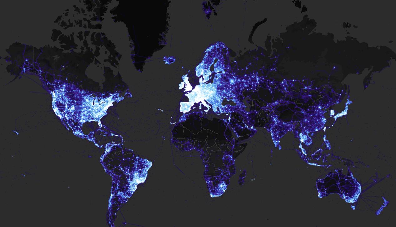 strava-world heatmap