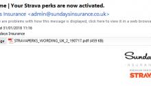 strava perk insurance