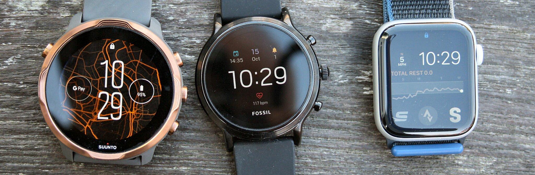 Fossil Gen 5, Apple Watch 6, Suunto 7